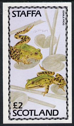 Staffa 1979 Frogs (Edible Frog) imperf  deluxe sheet (�2 value) unmounted mint