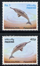 Pakistan 1982 Wildlife Protection (8th Series) Indus Dolphin set of 2 unmounted mint, SG 581-82