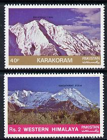 Pakistan 1985 Mountain Peaks #2 set of 2 unmounted mint, SG 674-75*