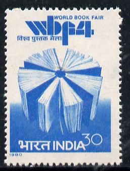 India 1980 4th World Book Fair unmounted mint, SG 961*