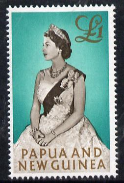 Papua New Guinea 1963 Queen Elizabeth II �1 unmounted mint, SG  45