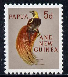 Papua New Guinea 1963 Bird of Paradise 5d unmounted mint, SG 42*