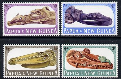 Papua New Guinea 1965 Canoe Prows set of 4 unmounted mint, SG 72-75