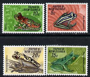 Papua New Guinea 1968 Fauna Conservation (Frogs) set of 4 unmounted mint, SG 129-32