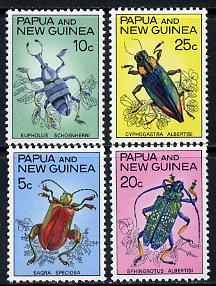 Papua New Guinea 1967 Fauna Conservation (Beetles) set of 4, SG 109-12 unmounted mint*