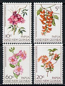 Papua New Guinea 1966 Flowers set of 4 unmounted mint, SG 100-103*