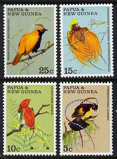 Papua New Guinea 1970 Fauna Conservation (Birds of Paradise) set of 4 unmounted mint, SG 173-76