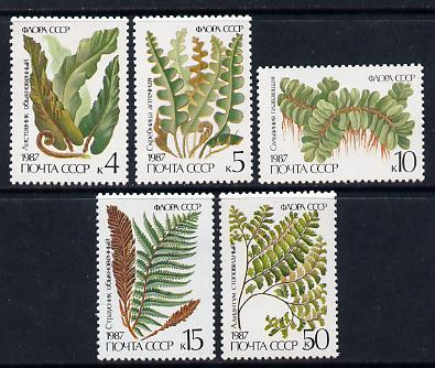 Russia 1987 Ferns set of 5 unmounted mint, SG 5773-77