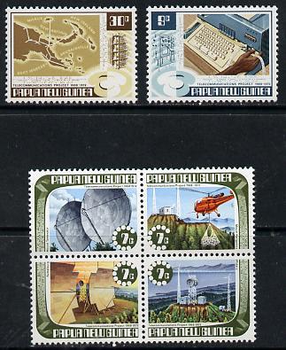 Papua New Guinea 1973 Telecommunications Project set of 6 unmounted mint, SG 231-36