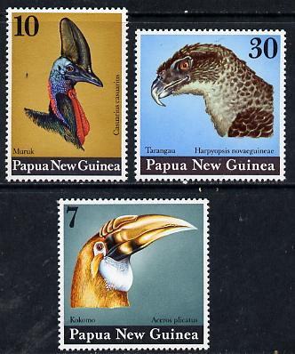 Papua New Guinea 1974 Birds Heads set of 3 unmounted mint, SG 270-72