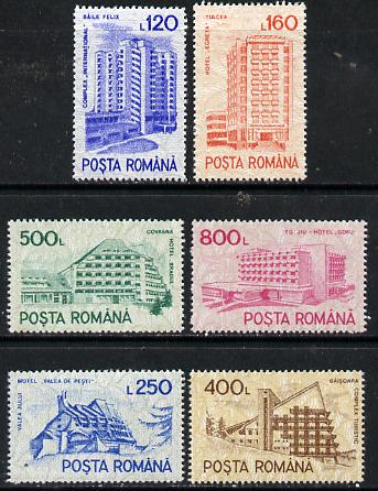 Rumania 1991 Hotels set of 6, Mi 4746-51*
