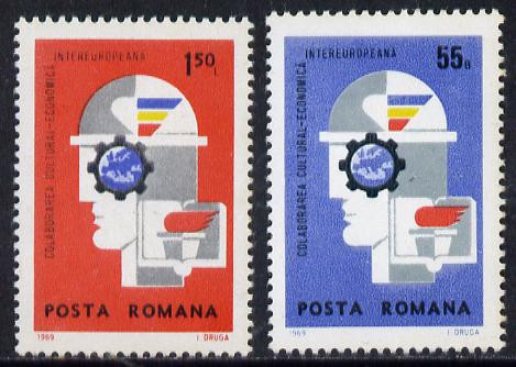 Rumania 1969 Inter-European Cultural Economic Co-operation set of 2, SG 3722-23, Mi 2764-65 unmounted mint*