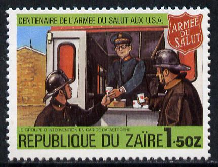 Zaire 1980 Canteen Serving Firefighters 1z50 from Salvation Army set unmounted mint, SG 1008*