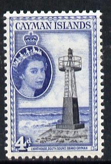 Cayman Islands 1953-62 South Sound Lighthouse 4d black & deep blue unmounted mint SG 155*