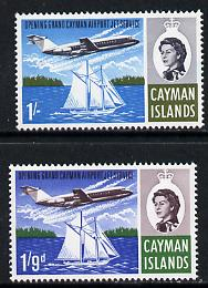 Cayman Islands 1966 Opening of Jet Service set of 2 unmounted mint, SG 203-04*