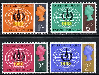 Falkland Islands 1968 Human Rights set of 4 unmounted mint, SG 228-31