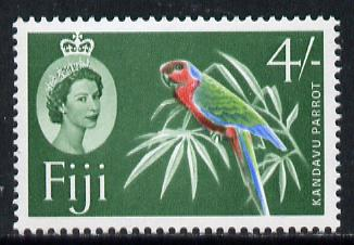 Fiji 1962-67 Parrot 4s (yellow-green background from def set) unmounted mint SG 321