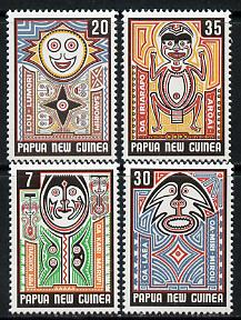 Papua New Guinea 1977 Folklore (Art 3rd series) set of 4 unmounted mint, SG 342-45*