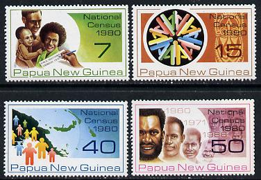 Papua New Guinea 1980 National Census set of 4 unmounted mint, SG 389-92*