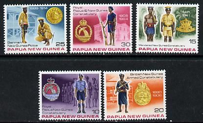 Papua New Guinea 1978 Royal Constabulary set of 5 unmounted mint, SG 354-58*