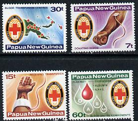 Papua New Guinea 1980 Red Cross Blood Bank set of 4, SG 393-96 unmounted mint*