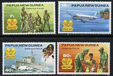 Papua New Guinea 1981 Defence Force set of 4 unmounted mint, SG 408-11*