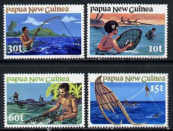 Papua New Guinea 1981 Fishing of 4 unmounted mint, SG 417-20*