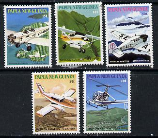 Papua New Guinea 1981 Mission Aviation set of 5, SG 412-16 unmounted mint*