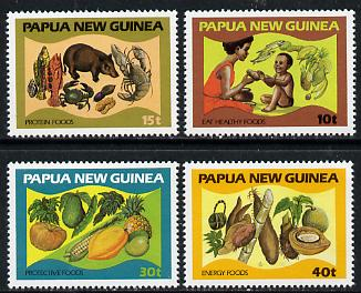Papua New Guinea 1982 Food & Nutrition set of 4 unmounted mint, SG 434-37*