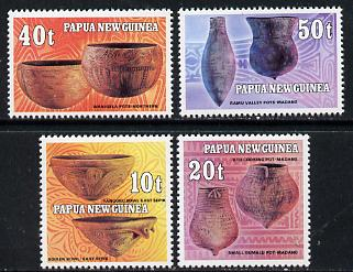 Papua New Guinea 1982 Native Pottery set of 4, SG 430-33 unmounted mint*