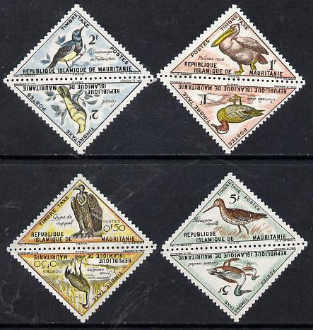 Mauritania 1963 Postage Due - Birds Triangular short set of 8 values unmounted mint, SG D177-84