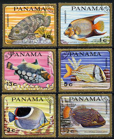 Panama 1968 Fish cto used set of 6 (tete-beche pairs available pro rata)