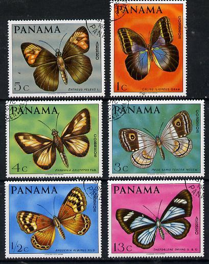 Panama 1968 Butterflies cto used set of 6