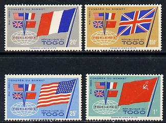 Togo 1960 Four-Power Summit set of 4, SG 262-65 unmounted mint