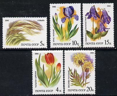 Russia 1986 Plants of the Russian Steppes set of 5 unmounted mint, SG 5622-26 Mi 5573-77*