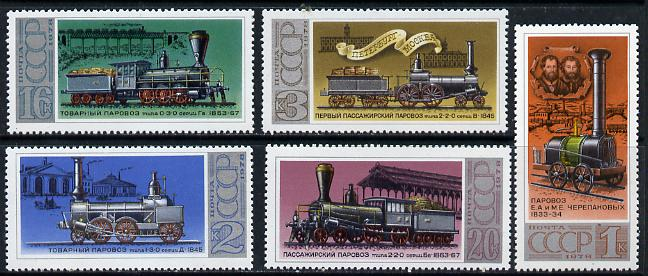 Russia 1978 Russian Locomotives #1 set of 5 unmounted mint, SG 4861-65, Mi 4715-19*