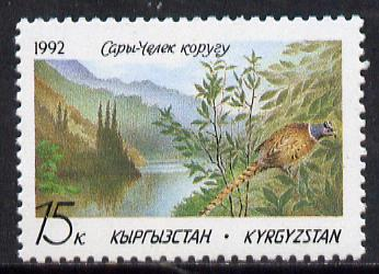 Kyrgyzstan 1992 Nature Reserve (Pheasant) SG 1 unmounted mint* , stamps on birds    nature     game