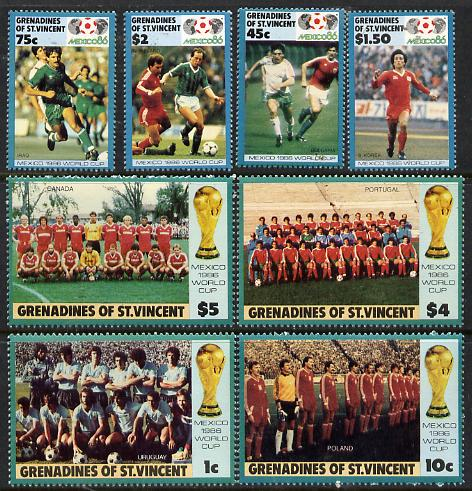 St Vincent - Grenadines 1986 World Cup Football set of 8 unmounted mint, SG 468-75