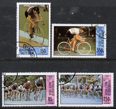 Upper Volta 1980 Olympic Games (Cycling) set of 4 cto used, SG 563-66*
