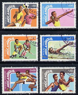 Mozambique 1978 Stamp Day (Sports) set of 6 cto used, SG 729-34*