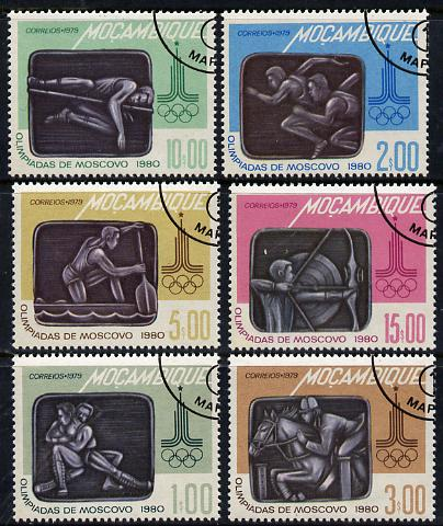 Mozambique 1979 Olympic Games set of 6 cto used, SG 747-52*