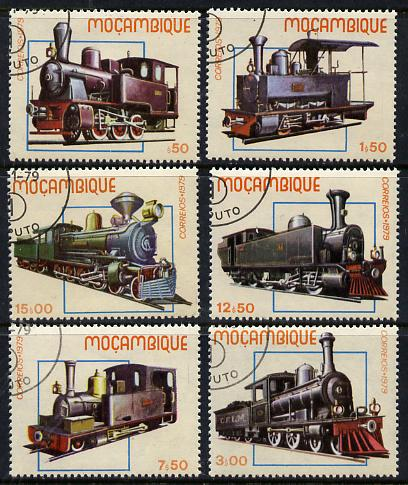 Mozambique 1979 Early Locomotives set of 6 cto used, SG 779-84*