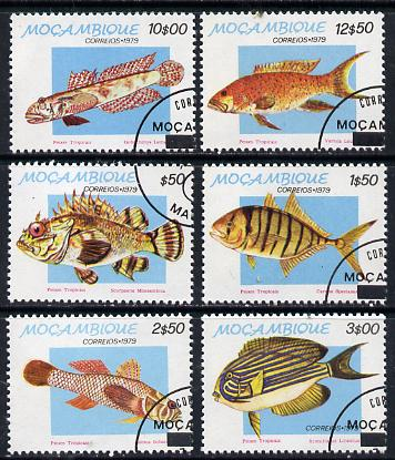 Mozambique 1979 Tropical Fish set of 6 cto used, SG 766-71*