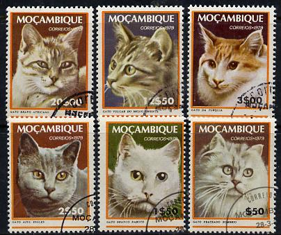 Mozambique 1979 Domestic Cats set of 6 cto used, SG 740-45*