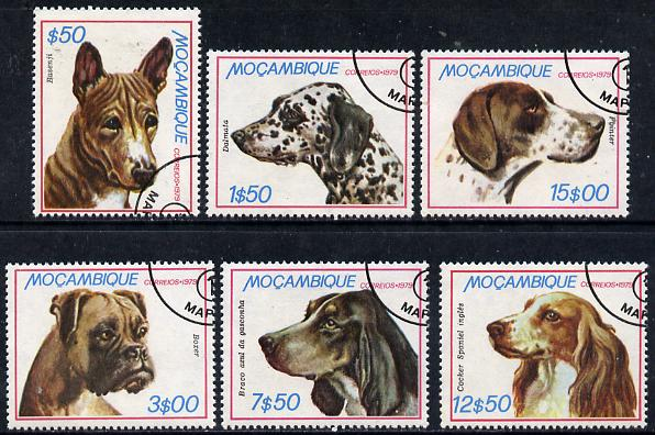 Mozambique 1979 Dogs set of 6 cto used, SG 785-90*