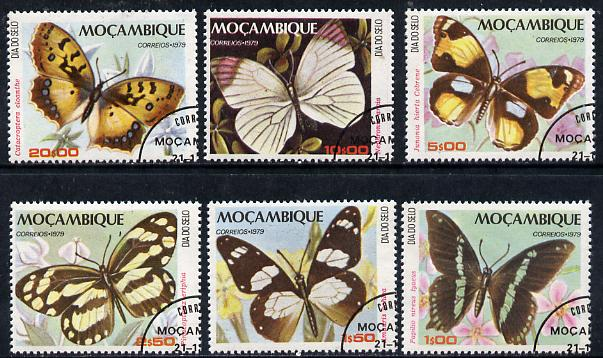 Mozambique 1979 Stamp Day (Butterflies) set of 6 cto used, SG 791-96*