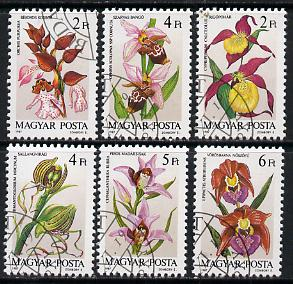 Hungary 1987 Orchids perf set of 6 cto used, SG 3795-3800*