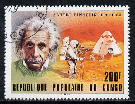 Congo 1979 Personalities 200f (Einstein) cto used, SG 687*
