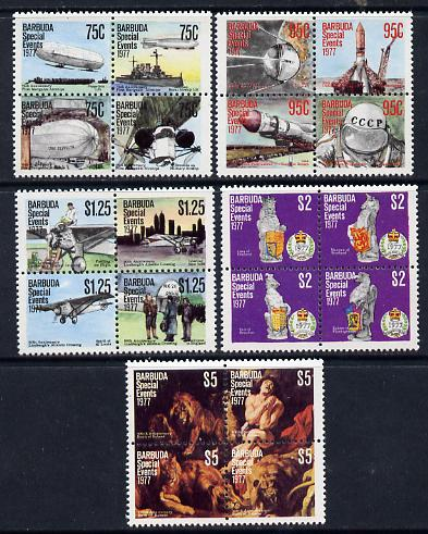 Barbuda 1977 Special Events set of 20 unmounted mint, SG 363-82