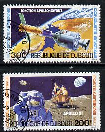 Djibouti 1980 Conquest of Space set of 2 cto used, SG 788-89*